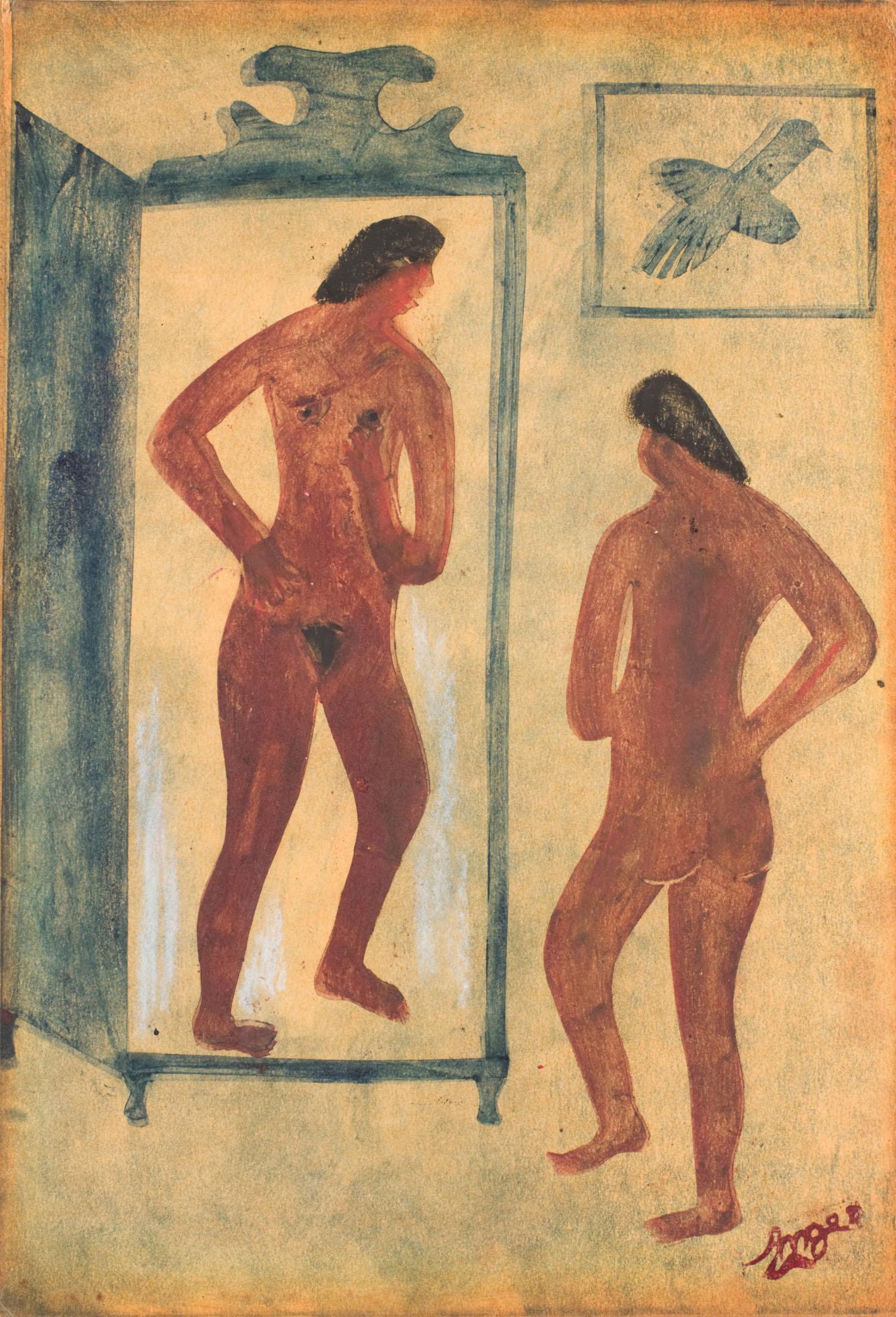 Nu devant un miroir | Nu devant un miroir | Atelier Ange Boaretto