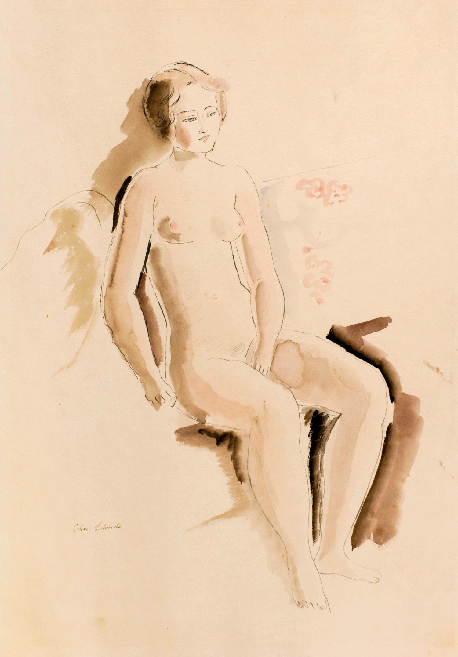 Nu assis | Femme nue |