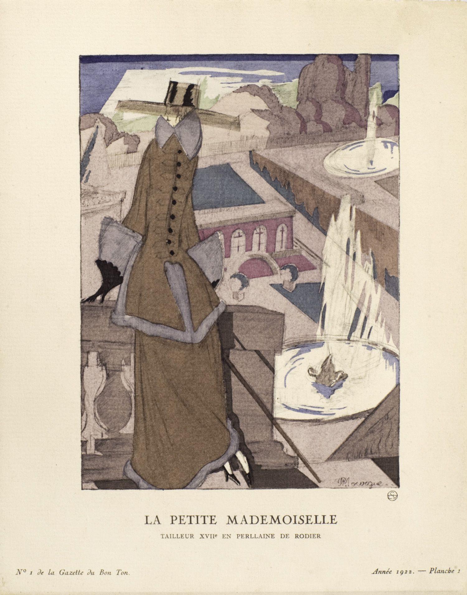 La petite mademoiselle, Tailleur XVII en perllaine de Rodier | Pierre Mourgue | Gazette du Bon Ton