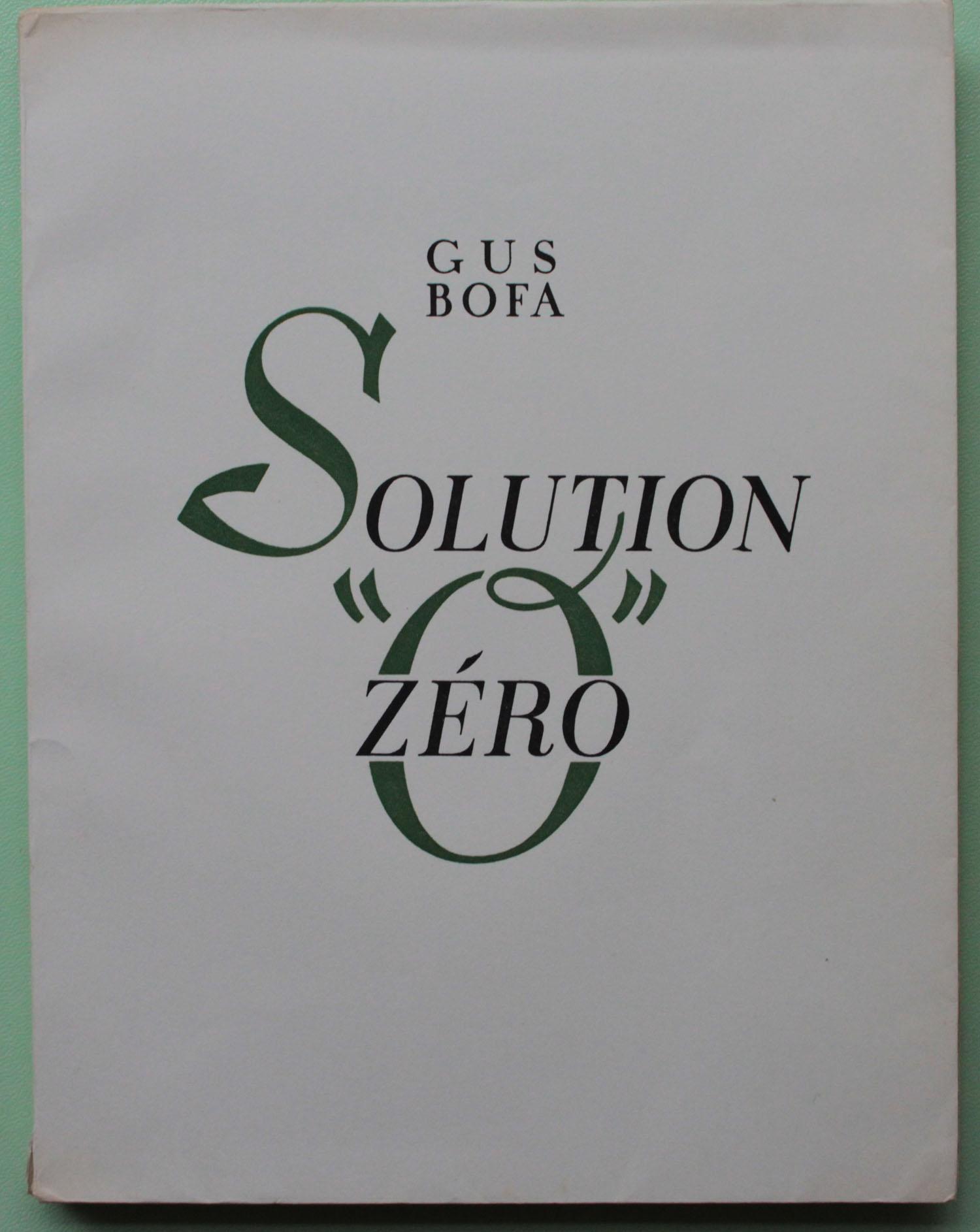 couverture | Solution Zéro | Livre