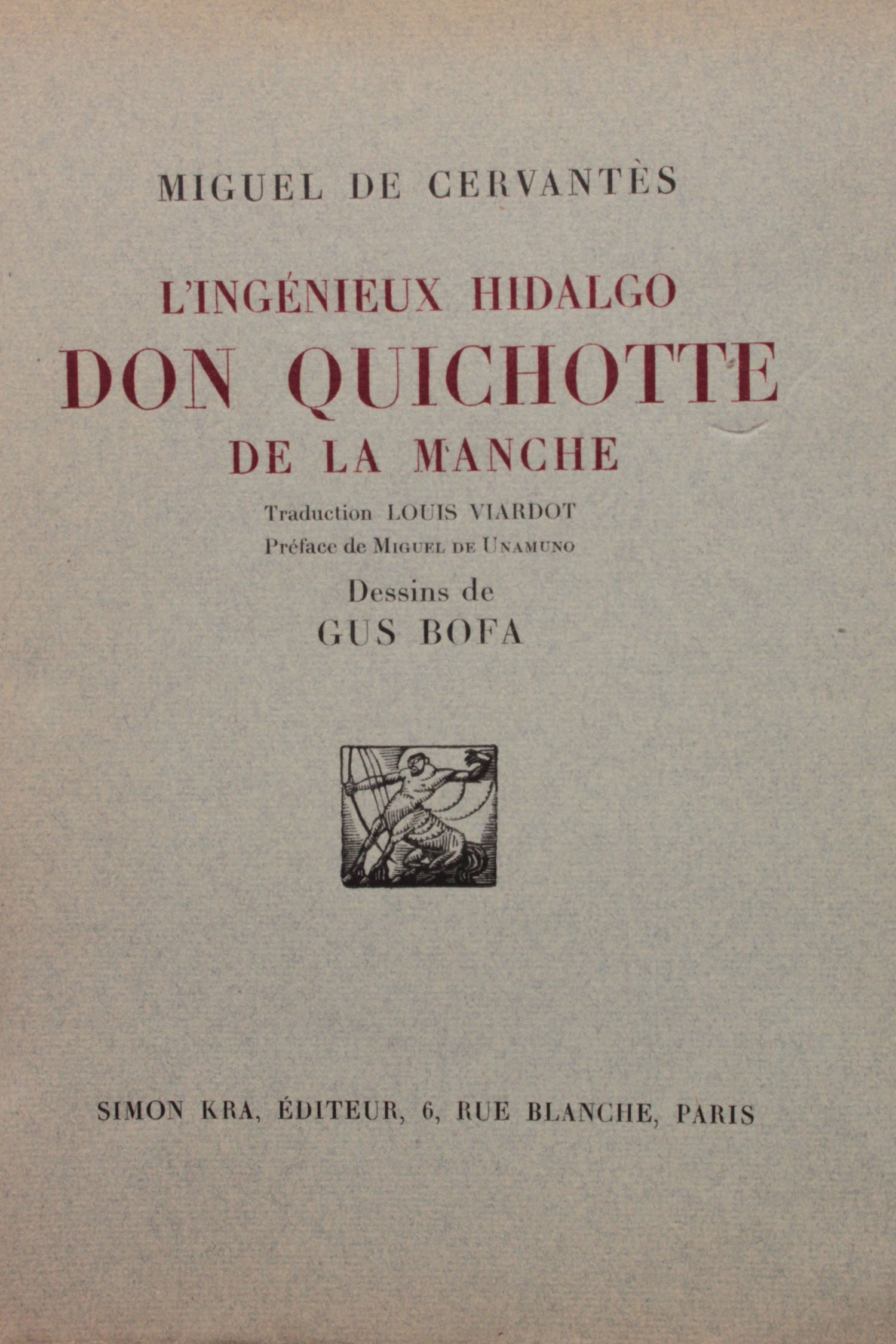 Couverture | Don Quichotte | 4 volumes