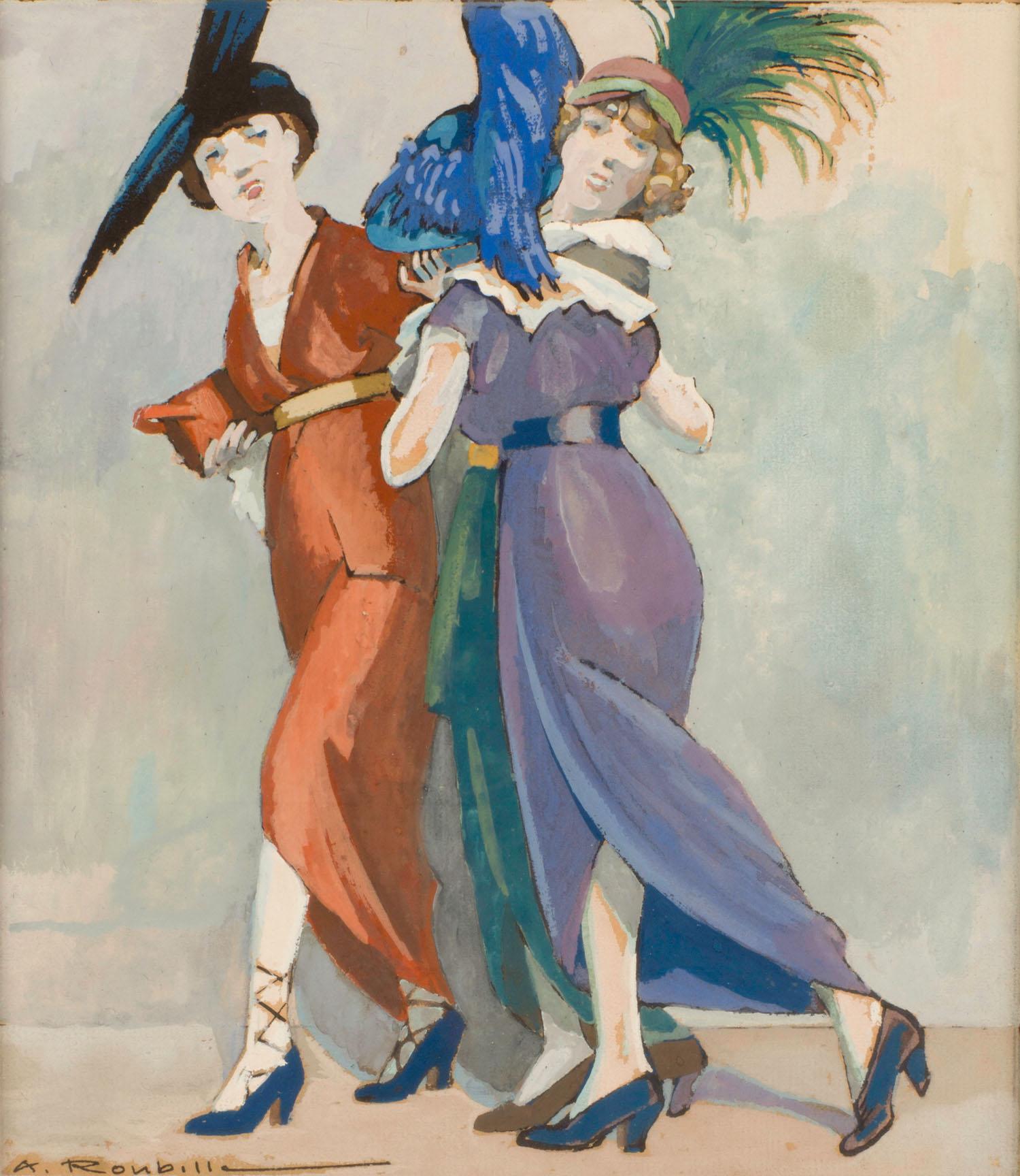 Auguste Roubille | Auguste Roubille | 3 élégantes aux chapeaux