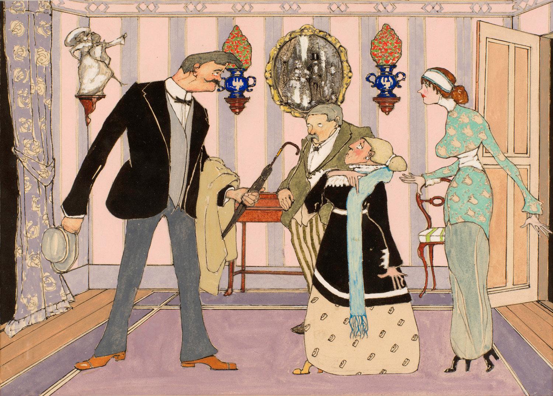 Scène de famille | Henri Avelot | Scène de famille