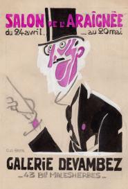 Affiche du salon de l'araignée Atelier Gus Bofa