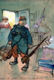 Francisque Poulbot Garde d'écurie