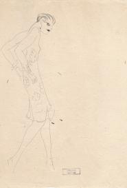 Femme marchant seconde version Marcel Vertès