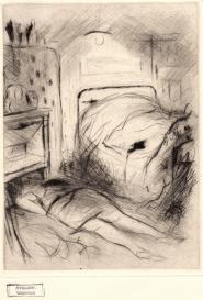 Cadavre au pied du lit Marcel Vertès