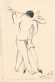 Couple dansant Marcel Vertès