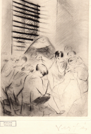 Prisonnières faisant des travaux de coutures Marcel Vertès