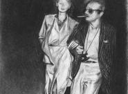 Angelica Huston et Jack Nicholson