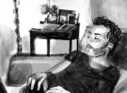 Benoît portrait réalisé sur Iphone