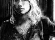 Clémentine portrait réalisé sur Iphone