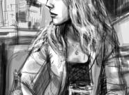 Erika portrait réalisé sur Iphone