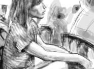 Laure portrait réalisé sur Iphone