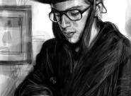 Laurent portrait réalisé sur Iphone