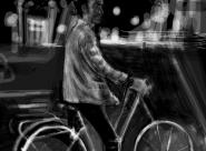 Marin sur les Grands Boulevards portrait réalisé sur Iphone
