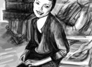 Saori portrait réalisé sur Iphone