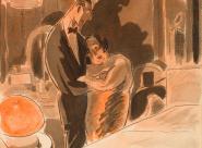 Gus Bofa Couple près du lit