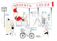 Federica Del Proposto Magenta Color