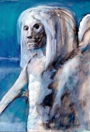 Portrait bleu Guido Buzzelli