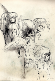 Quatre figures Guido Buzzelli