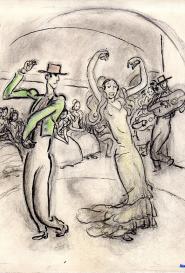 La danseuse flamenco Gus Bofa