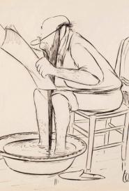 Le bain de pieds