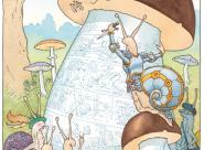 Gravure sur champignon - Le Chevalier de ventre à Terre Gilles Bachelet