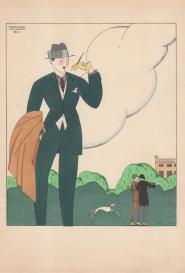 Élégant au porte cigarette Edouard Halouze