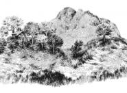 Chalet et montagne à vache Nylso