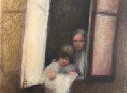 GALERIE TREIZE-DIX I AUTRE JE Anne Gorouben, Montparnasse, les deux sœurs ont une «troisème grand-mère», la voisine  du dessuous
