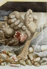 Michel Guiré-Vaka / Sculpteur d'images Jumbo de friteuse-monstre-odeur