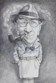 Michel Guiré-Vaka / Sculpteur d'images Georges Simenon pour le magazine Lire