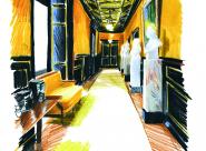 GALERIE TREIZE-DIX I LUCILE PIKETTY Le couloir de la direction, pavillon Mollien