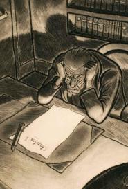 Silences Jean Bruller - 8 estampes dessinées gravées imprimées et coloriées à la main