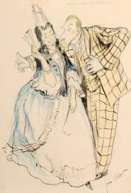 Jean Veber Caricature d'Alphonse Allais
