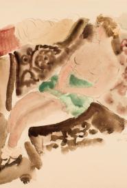 Femme sur divan