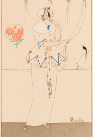 Femme au rideau