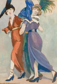 Auguste Roubille 3 élégantes aux chapeaux