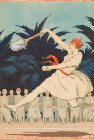 Le tennis des demoiselles Armand Vallée