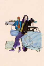 Sur une voiture bleue Robert Gigi