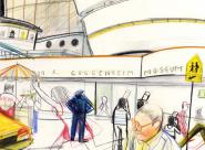 l'entrée du Guggenheim